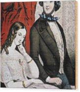 Lovers Quarrel, 1846 Wood Print