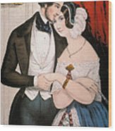 Lovers Reconciliation Wood Print