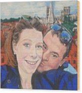 Lovers Selfie In York, England Wood Print