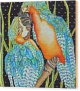 Loving Birds Wood Print