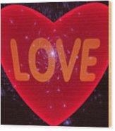Loving Heart Wood Print