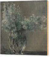 Lovis Corinth Ostpreussen 1858 - 1925 Zandvoort Still Life With White Lilacs. Wood Print