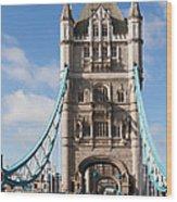 Low Angle View Of Tower Bridge, London Wood Print