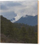 Low Clouds In Ute Pass Colorado Wood Print