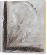 Low Cool Abstract Painting Wood Print