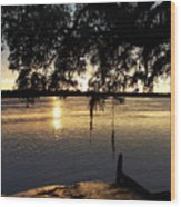 Low Country Sunset Wood Print