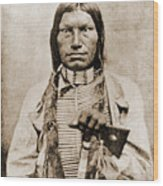Low Dog Sioux Wood Print