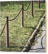 low fence Chain Wood Print