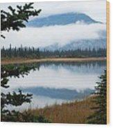 Low Hanging Clouds Wood Print