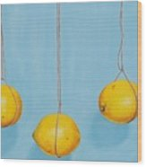 Low Hanging Lemons Wood Print