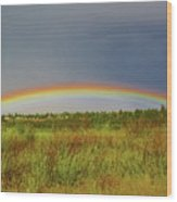 Low Lying Rainbow Wood Print