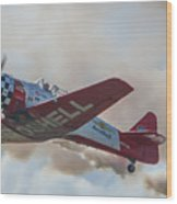 Low Pass Stunt Plane Wood Print