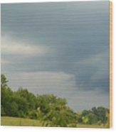 Low Rotating Thunderstorm Wood Print
