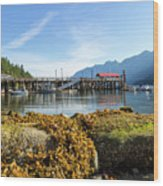 Low Tide At Horseshoe Bay Canada On A Sunny Day Wood Print