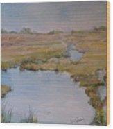 Low Tide Wood Print by Dorothy Herron