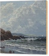 Low Tide, Hetherington's Cove, Grand Manan By Alfred Thompson Bricher Wood Print