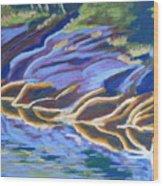 Low Tide On Cross Island Wood Print