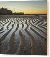 Low Tide On La Caleta Cadiz Spain Wood Print