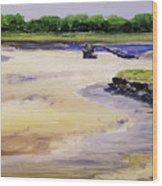 Low Tide Parsons Wood Print