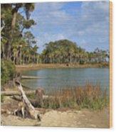 Lowcountry Lagoon Wood Print