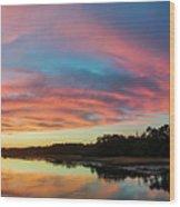 Lowcountry Sunset Charleston Sc Wood Print by Dustin K Ryan