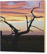 Lowcountry Sunset Wood Print