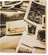 Lowdown On A Vintage Photo Collections Wood Print