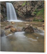 Lower Adams Canyon Falls Wood Print