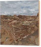 Lower Box Canyon Ruin Wood Print