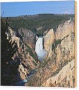 Lower Falls @ Yellowstone National Park Wood Print