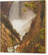 Lower Falls From Artists Viewpoint Wood Print