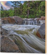 Lower Falls Of The Swift River Wood Print