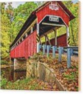 Lower Humbert Covered Bridge 2 Wood Print