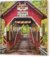 Lower Humbert Covered Bridge 5 Wood Print
