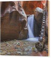 Lower Kannara Creek Falls Wood Print