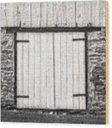 Lower Level Door To An 1803 Amish Corn Barn  -  1803cornbarnblwh172868 Wood Print