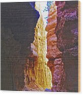 Lower Level Of Wall Street On Navajo Trail In Bryce Canyon National Park, Utah Wood Print