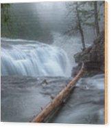 Lower Lewis River Falls Wood Print