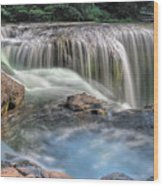 Lower Lewis River Falls Rush Wood Print