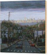 Lower Manhattan 2002 Wood Print