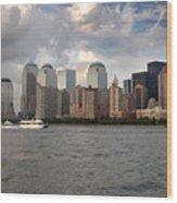 Lower Manhattan From The Hudson Wood Print