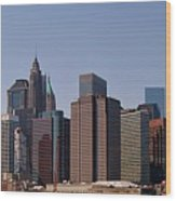 Lower Manhattan Nyc #2 Wood Print
