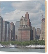 Lower Manhattan Panorama Wood Print
