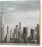 Lower Manhattan Panoramic Skyline Wood Print
