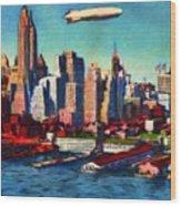 Lower Manhattan Skyline New York City Wood Print