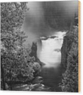Lower Mesa Falls Wood Print