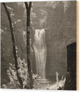 Lower Multnomah Falls Wood Print