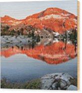Lower Ottoway Lake Sunset - Yosemite Wood Print