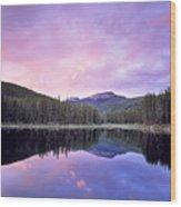 Lower Seymor Lake Wood Print