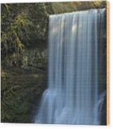 Lower South Falls Closeup Wood Print